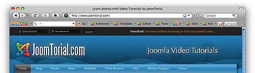 JoomBar Toolbar